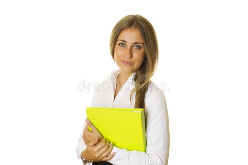 Bedrijfs vrouw met omslag royalty-vrije stock foto