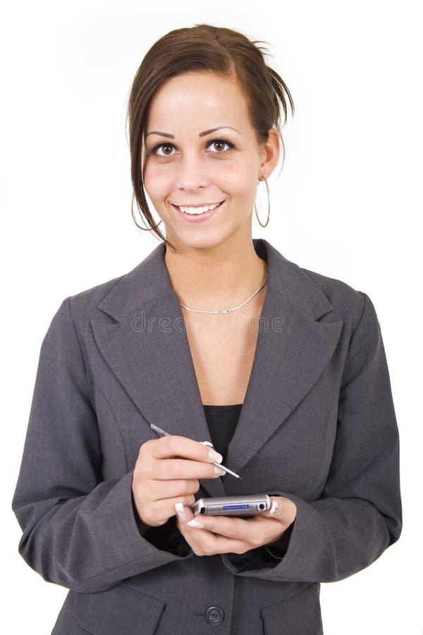 Bedrijfs vrouw met PDA royalty-vrije stock foto's