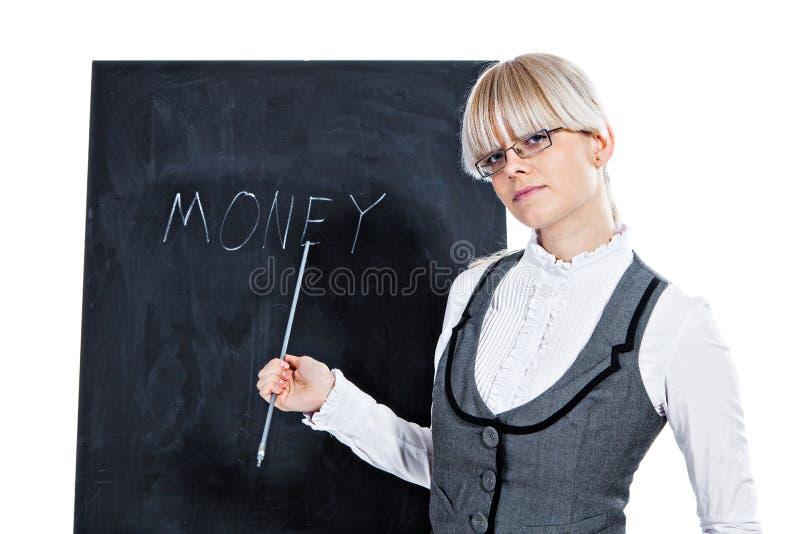 Download Bedrijfs Vrouw Met Schoolbord Stock Afbeelding - Afbeelding bestaande uit wijfje, overhemd: 29501039