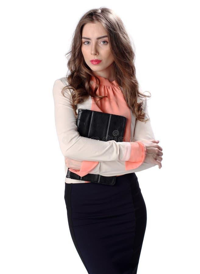 Bedrijfs vrouw met tabletcomputer royalty-vrije stock foto's