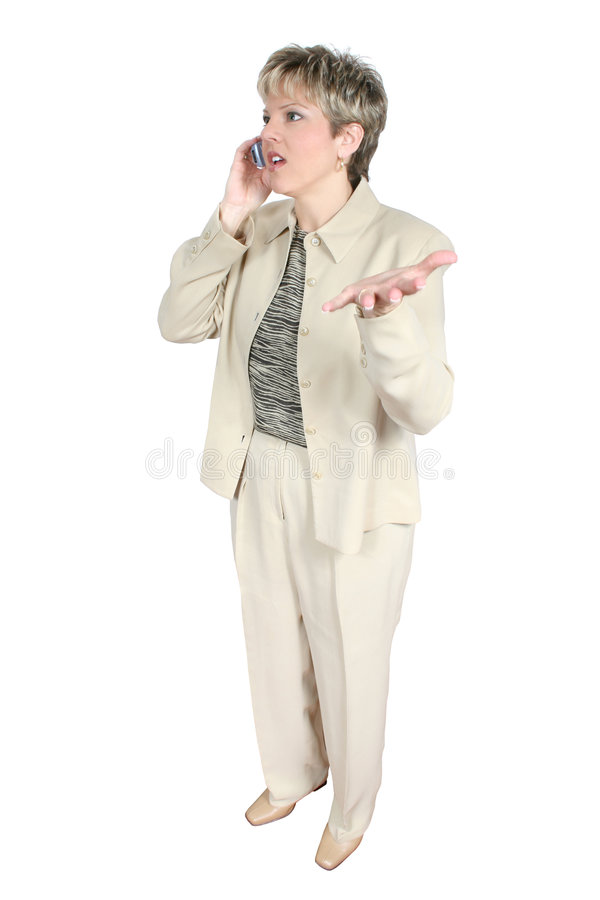 Bedrijfs Vrouw Op Cellphone Royalty-vrije Stock Foto