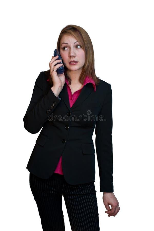 Bedrijfs Vrouw op telefoon 3 stock afbeelding