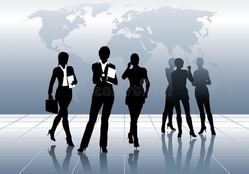 Bedrijfs vrouwen stock illustratie