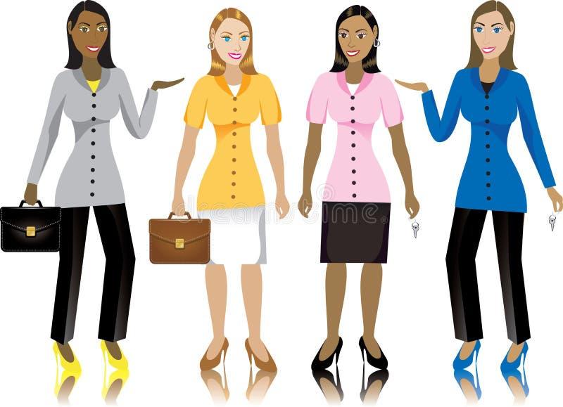 Bedrijfs Vrouwen royalty-vrije illustratie