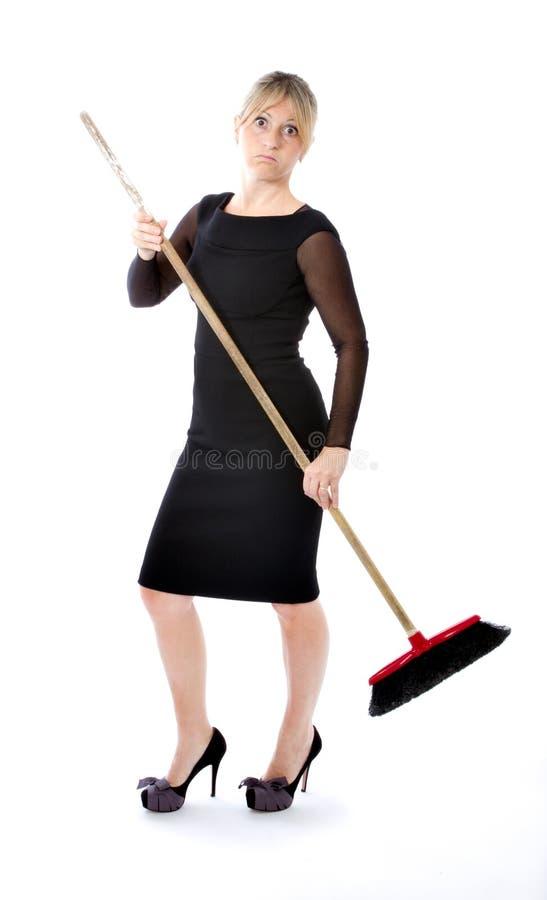 Bedrijfs vrouwen wanhopige huisvrouw stock afbeeldingen