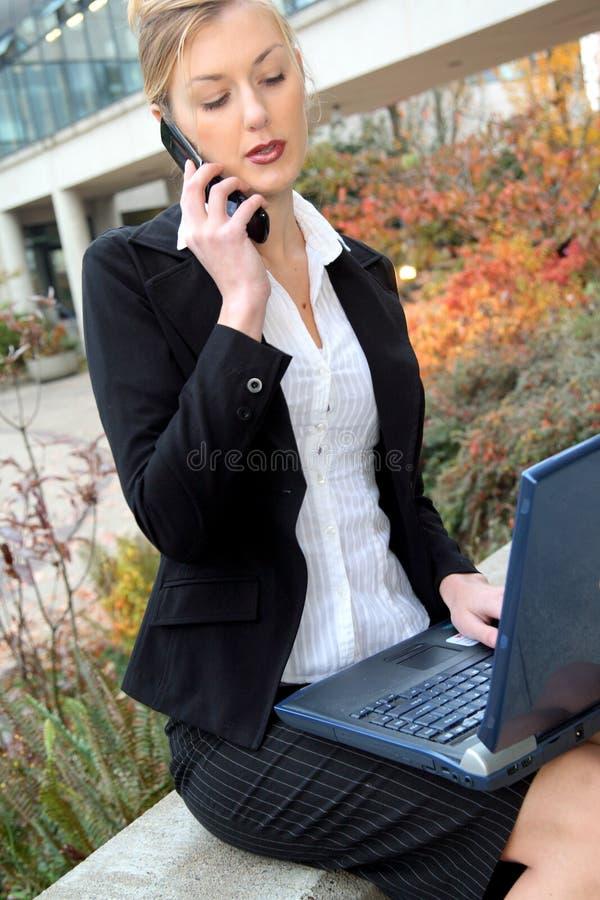 Bedrijfs vrouwenportret stock foto