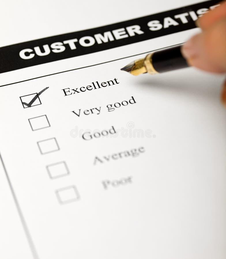 Bedrijfs waarden - tevreden klanten stock afbeelding