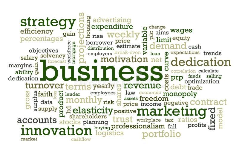 Bedrijfs Woorden vector illustratie
