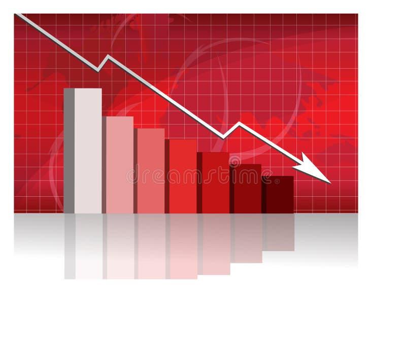 Bedrijfs zorgen met grafiek stock illustratie