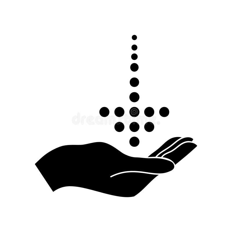bedrijfs zuiver download zwart pictogram royalty-vrije illustratie