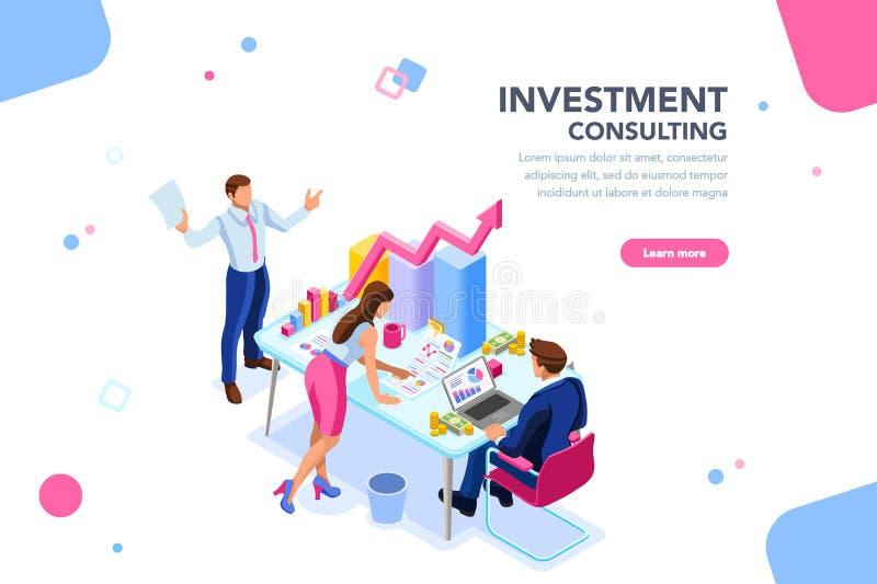 Bedrijfsadviseur Team Management Concept vector illustratie