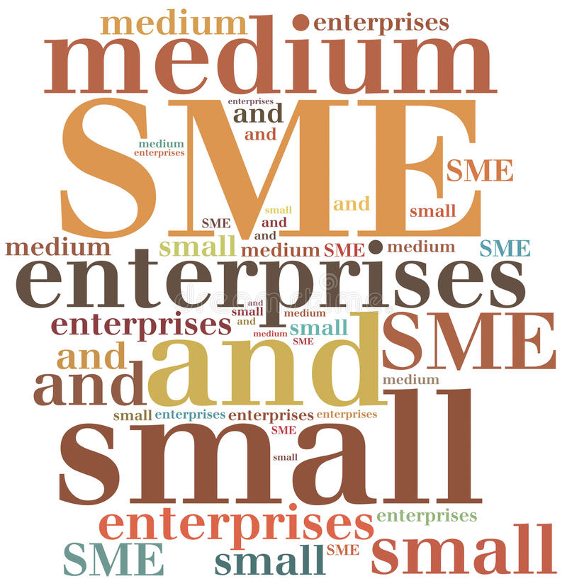 Bedrijfsafkorting Word wolkenillustratie vector illustratie
