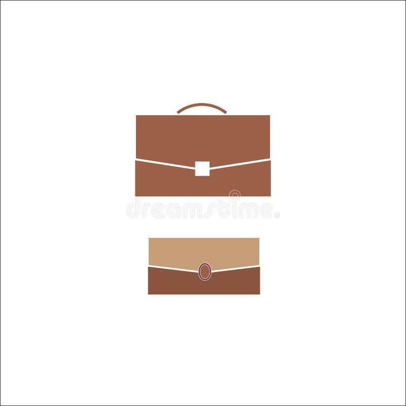 Bedrijfsaktentas, zak, illustratie, symbool stock illustratie