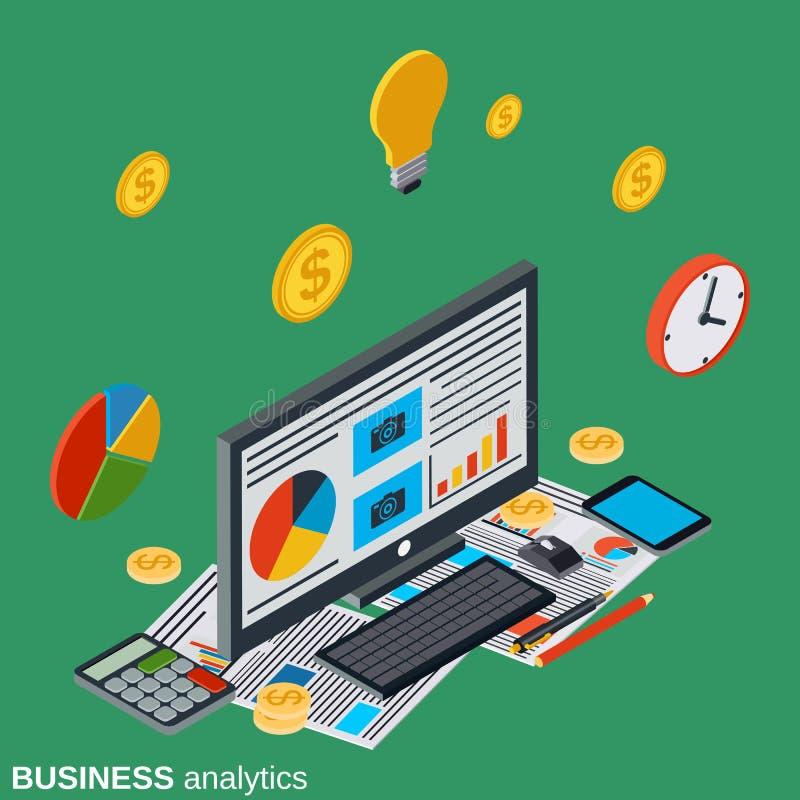 Bedrijfsanalytics, financieel verslag vectorconcept stock illustratie