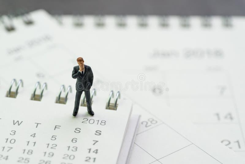 Bedrijfsbenoeming, de kalender van de bureauvergadering, miniatuurzaken royalty-vrije stock foto's
