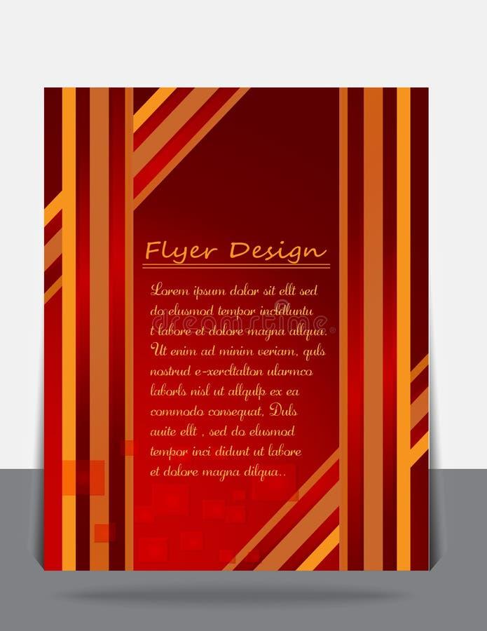 Bedrijfsbrochure, vlieger, tijdschriftdekking of affichemalplaatje stock fotografie