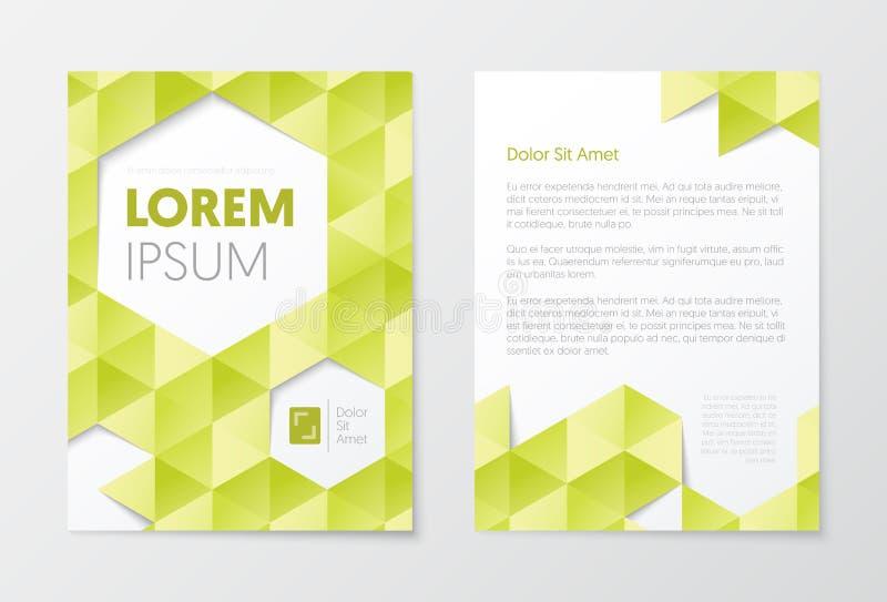 Bedrijfsbrochuremalplaatjes Abstract vliegerontwerp De Presentatieboekje van de pamfletdekking Marketing royalty-vrije illustratie