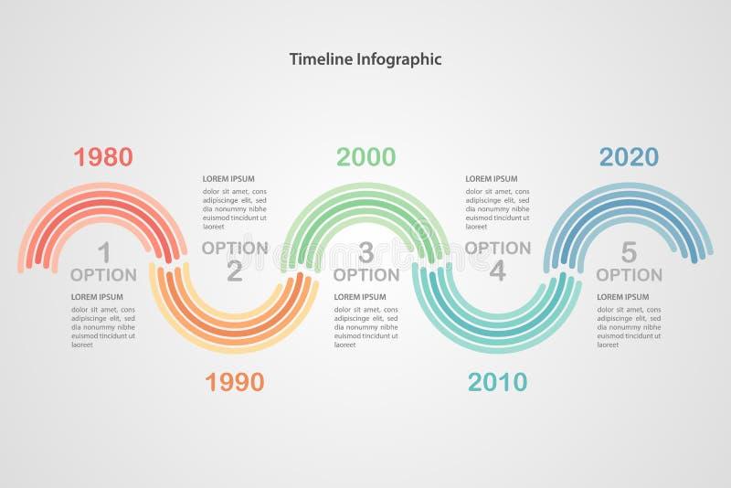 Bedrijfschronologie infographic malplaatje Vector vector illustratie