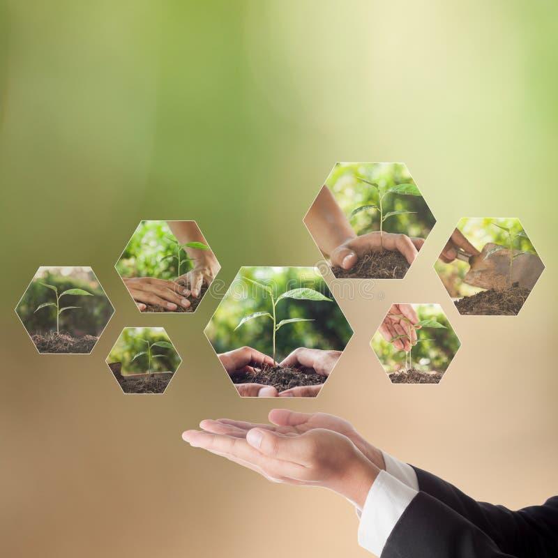 Bedrijfsconcept CSR of Collectieve Sociale Verantwoordelijkheid royalty-vrije stock afbeelding