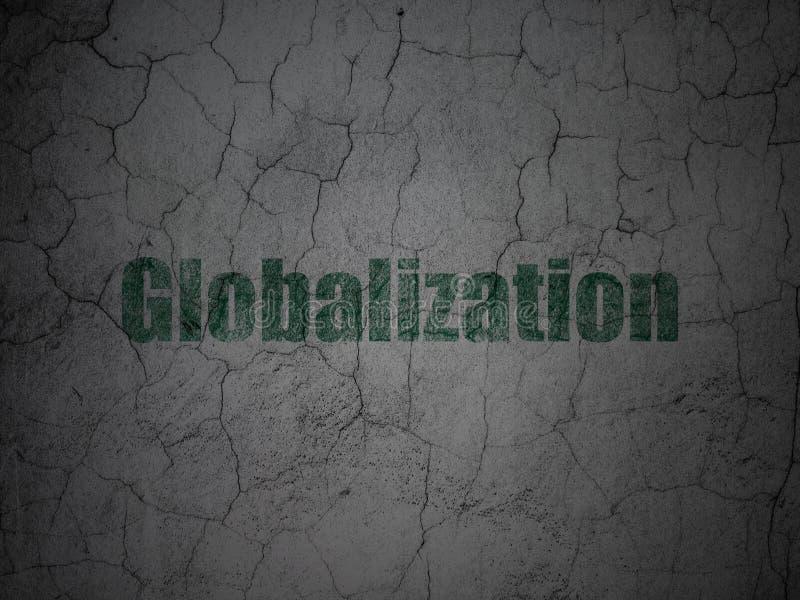 Bedrijfsconcept: Globalisering op de achtergrond van de grungemuur royalty-vrije stock afbeelding