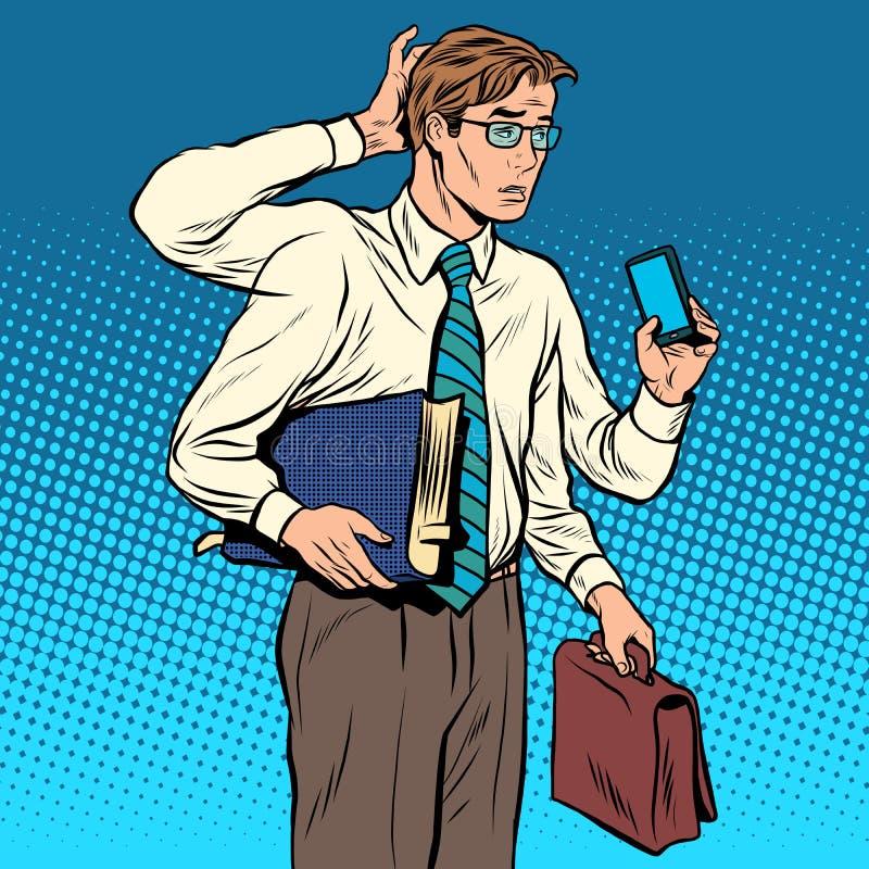 Bedrijfsconcept heel wat gevallen de multi-bewapende zakenman vector illustratie