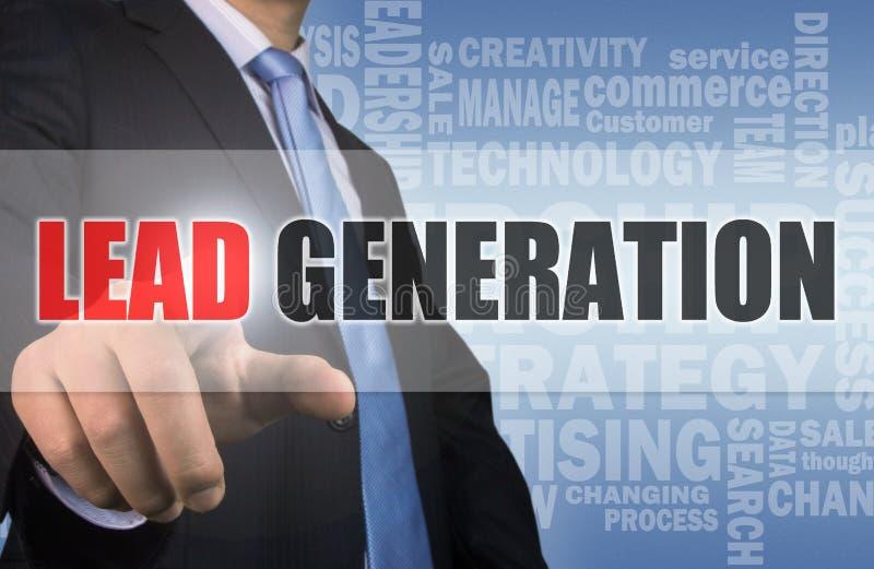 Bedrijfsconcept: loodgeneratie stock afbeelding