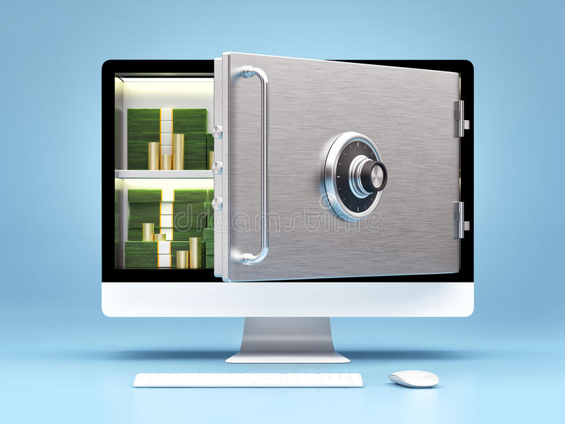 Bedrijfsconcept online bankwezen stock illustratie