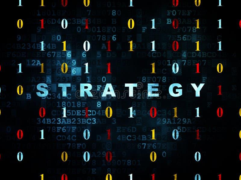 Bedrijfsconcept: Strategie op Digitale achtergrond royalty-vrije illustratie