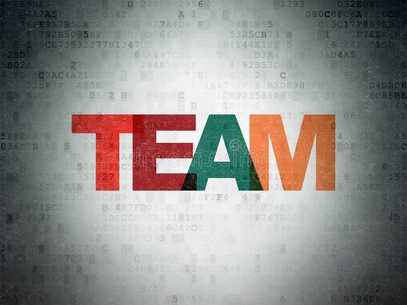 Bedrijfsconcept: Team op Digitale Gegevensdocument achtergrond royalty-vrije stock foto