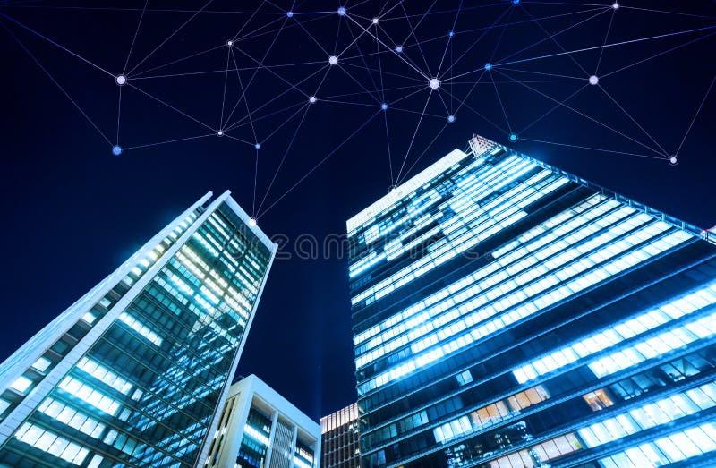 Bedrijfsconcept voor informatie, mededeling, verbindingstechnologie royalty-vrije stock foto