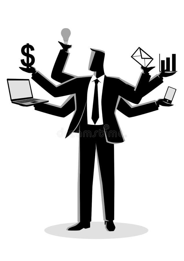 Bedrijfsconceptenillustratie voor multitasking royalty-vrije illustratie