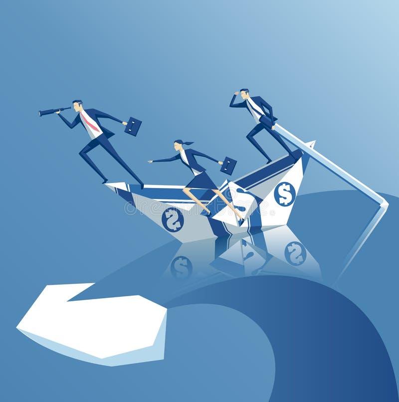 Bedrijfsconcepteninvestering en risico royalty-vrije illustratie