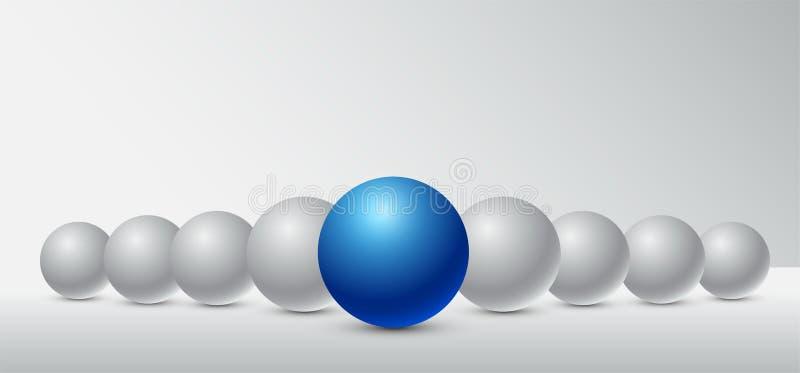 Bedrijfsconceptenleiding voor de organisatie en het bedrijf stock illustratie