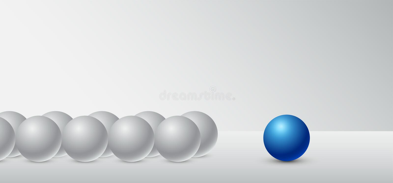 Bedrijfsconceptenleiding voor de organisatie en het bedrijf vector illustratie