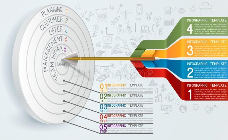 Bedrijfsconceptenmalplaatje met Pijl stock illustratie