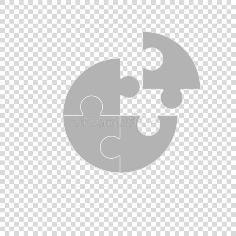 bedrijfsconceptie van het teamwerk in raadsel royalty-vrije illustratie