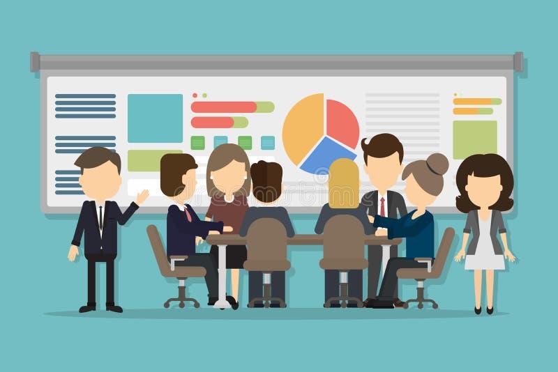 Bedrijfsconferentieconcept vector illustratie