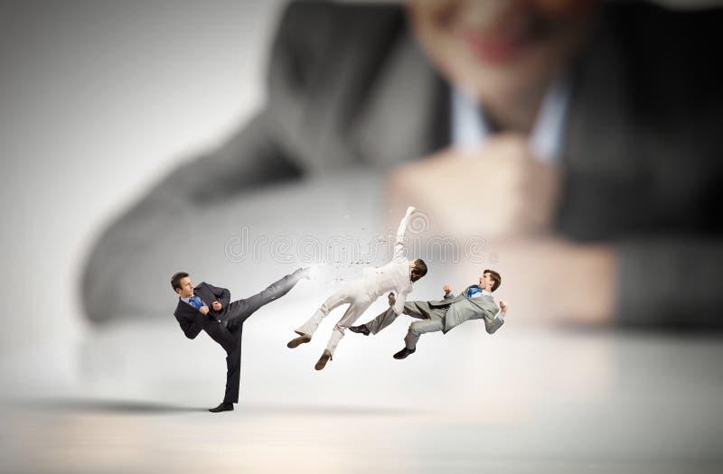 Bedrijfsconflict en confrontatie royalty-vrije stock afbeelding