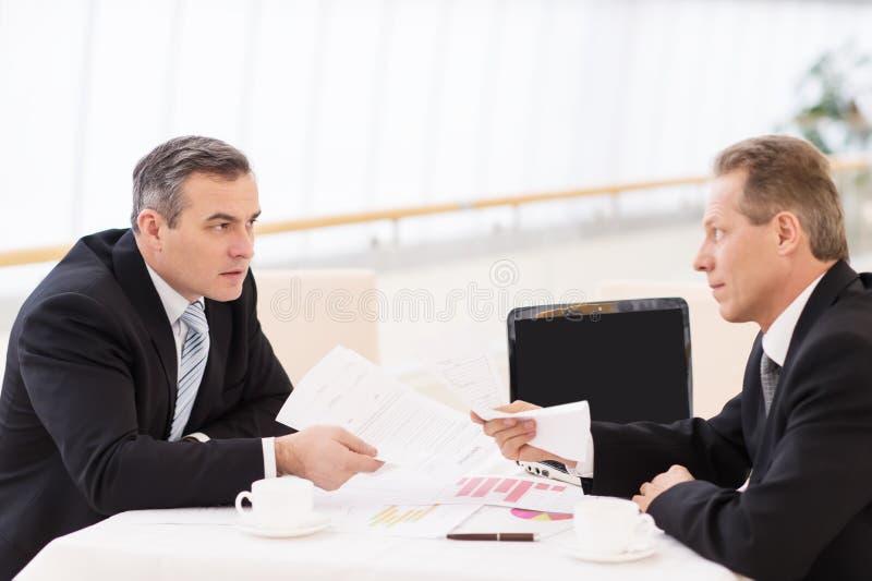 Bedrijfsconfrontatie. royalty-vrije stock foto
