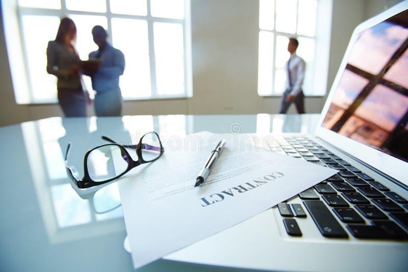 Bedrijfscontract stock fotografie