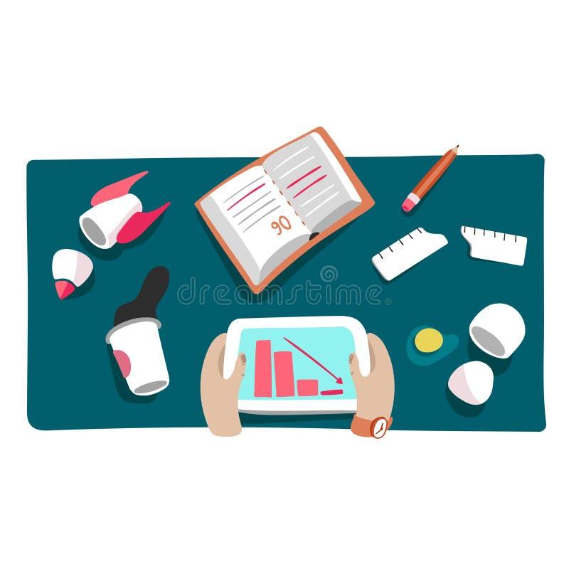 Bedrijfscrisis of startneerstortings vectorillustratie stock illustratie