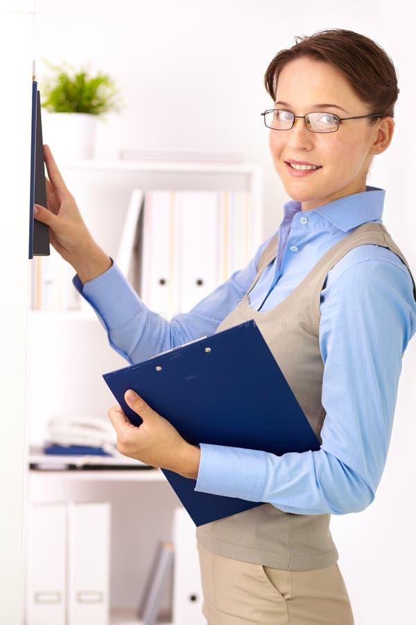 Bedrijfsdame stock afbeelding