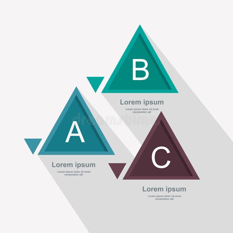 Bedrijfsdiagramdriehoek, driedelig patroon royalty-vrije illustratie