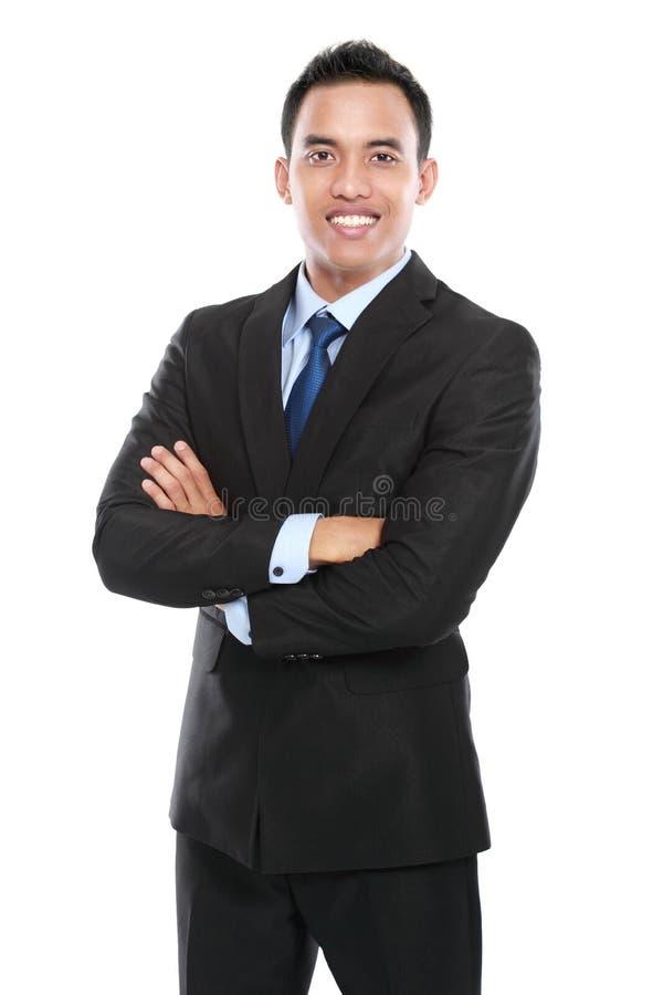 Bedrijfsdiemens op witte achtergrond wordt geïsoleerd royalty-vrije stock foto