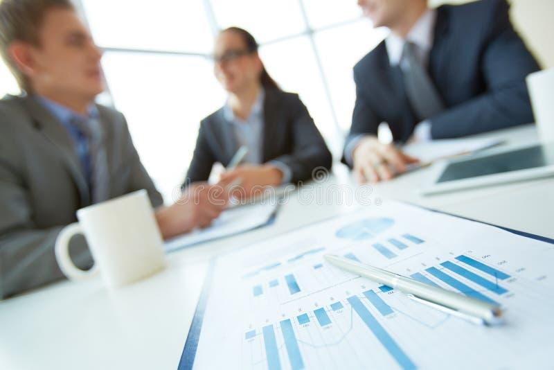 Bedrijfsdocument stock afbeelding