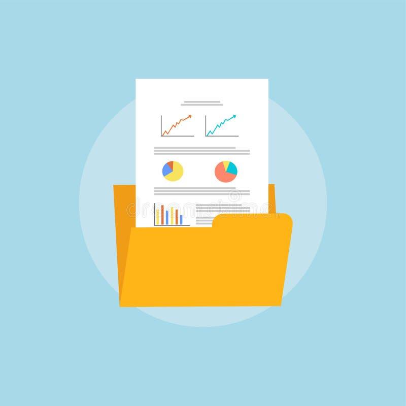 Bedrijfsdocument in omslag De zaken leveren concept Dossierbeheer vector illustratie