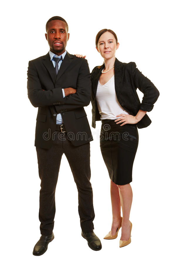 Bedrijfsduo met twee zakenlui stock fotografie