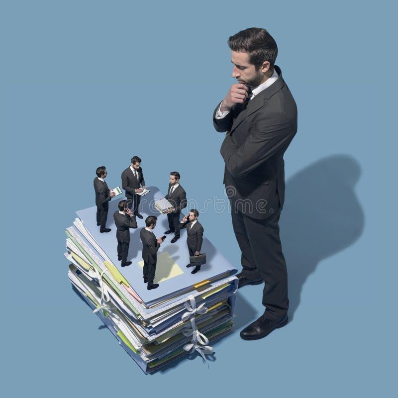 Bedrijfseconomie en personeel royalty-vrije stock afbeelding