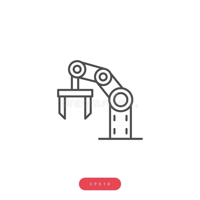 Bedrijfseconomie van het automatiserings vertelde de Vectorpictogram Vectorlijnpictogram Editableslag 1000x1000 Perfect pixel stock illustratie