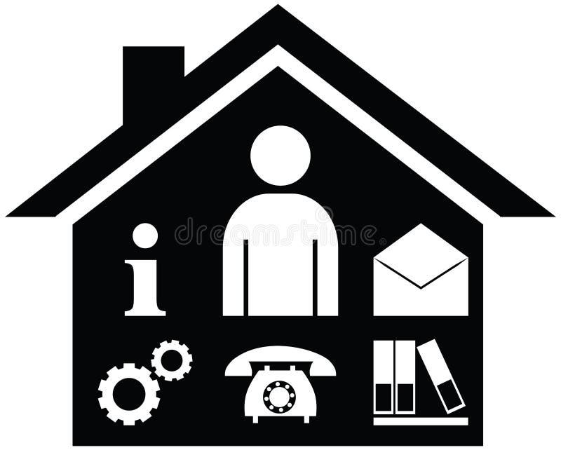 Bedrijfseconomie of van het Faciliteitenbeheer symboolpictogram vector illustratie